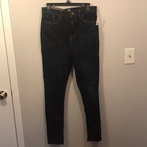 High waist skinny BDG jeans dark wash
